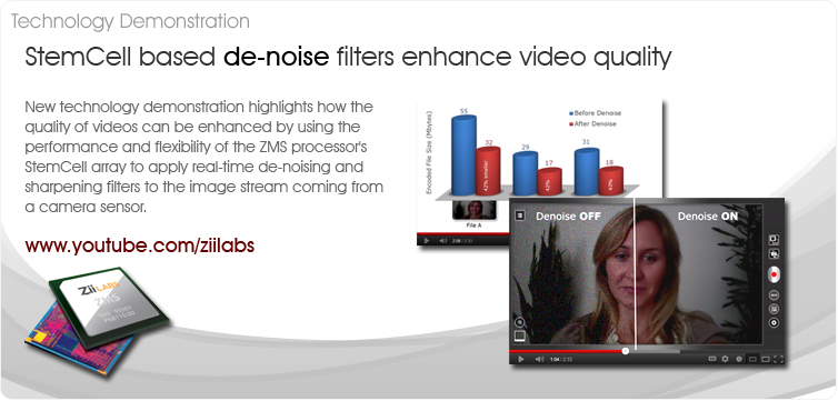 ZiiLABS release de-noise video demonstration